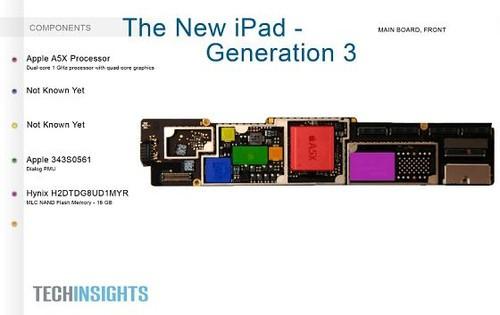 新ipad主板结构图(图片来自网络)