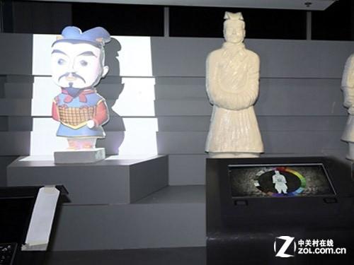 香港兵马俑展 投影技术超越IMAX底线