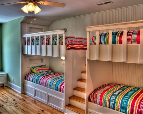 美丽的上下铺床是每个少女心中的梦,要是大学宿舍能有这样的床铺设计