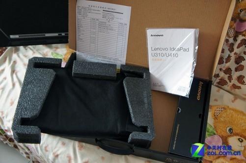 打开包装后,我们看到图片中的这些物件,一台u410主机,一个电源适配器
