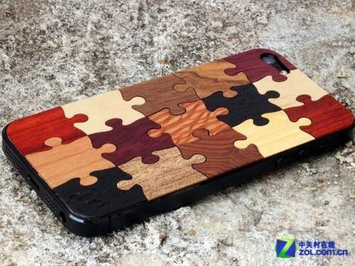 回忆美好童年 木质拼图图案iPhone背贴