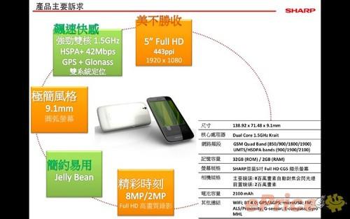 5英寸1080p屏幕 夏普SH930W香港即将开卖