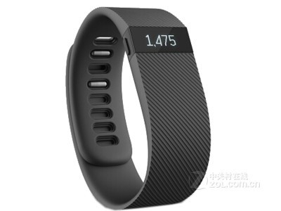 Fitbit Charge 智能手环 自动睡眠记录 来电显示 运动蓝牙手表计步器 典雅黑 L