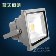 蓝天led投光灯10W20W30W50WLED投光灯户外灯投射灯泛光灯广告灯 超亮10W投光灯暖白光