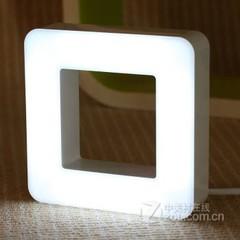 银之优品创意声光控智能方正桌灯壁灯 开关版-白光