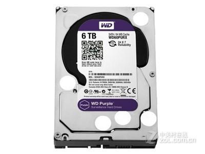 西部数据 紫盘6TB 监控级硬盘SATA 3.5寸(WD60PURX)