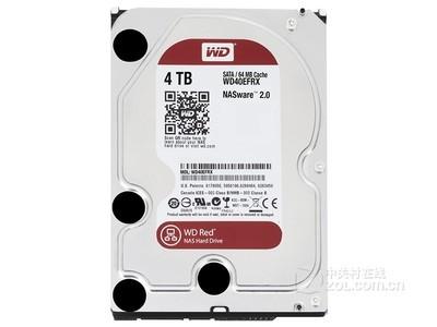 西部数据 红盘4TB SATA6Gb/s 64M(WD40EFRX)