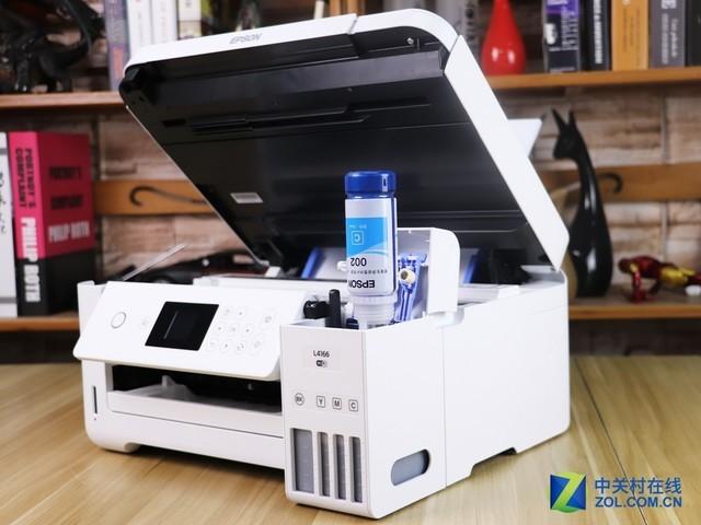 边打边测 爱普生L4166如何微信打印?