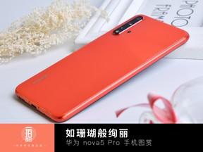 如珊瑚般絢麗 華為 nova5 Pro手機圖賞