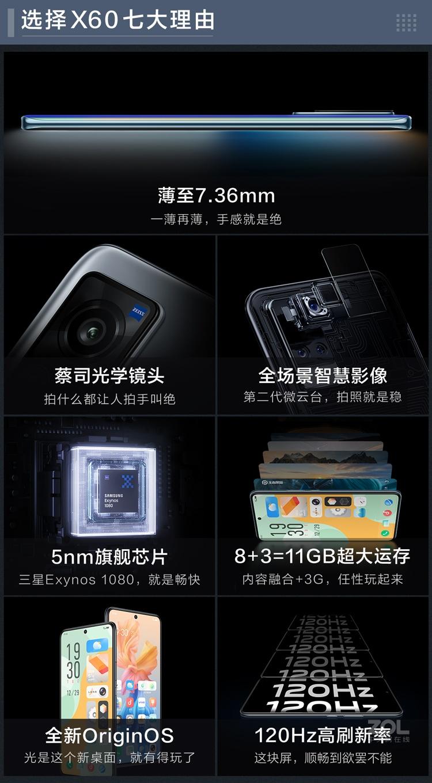 vivo X60(8GB/128GB/全网通/5G版)评测图解产品亮点图片3