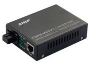一舟10/100/1000M多模双纤光纤收发器内置电源SB1000-1
