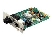 一舟10/100/1000M单模双纤卡式光纤收发器SD1000-20