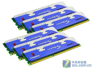金士顿24GB DDR3 1600 HyperX系列(KHX1600C9D3K6套装)