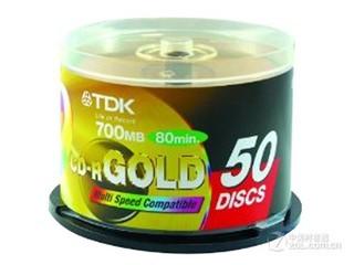 TDK 商务金盘CD-R80 52速 700MB(50片桶装)