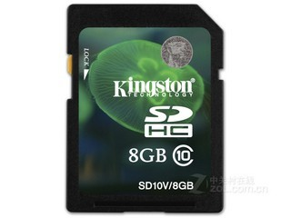 金士顿SDHC卡 Class10(8GB)SD10V/8G
